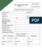 EKL-QC-F-0106-C Post Weld Heat Treatment Report