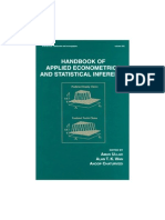 Aman Ullah Handbook of Applied Econometrics and Statistical Inference (Statistics, A Series of Textbooks and Monographs) 2002