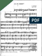 Telemann Sonata f Minor Bassoon Bass Clef and Piano
