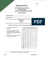 Percubaan UPSR 2015 - Wilayah KL - Matematik Kertas 2
