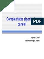 3 Complexitatea Algoritmilor Paraleli