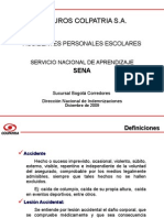 Presentación Póliza APE (Sena 2009  2010) Seguros Colpatria S A MOD