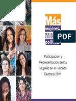 Participación y Representación de las Mujeres en el Proceso Electoral 2011