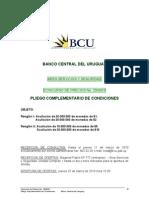 BCU Pliego Para Monedas