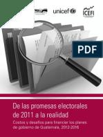 De las Promesas Electorales 2011 a la Realidad