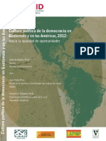 Cultura Política de la Democracia en Guatemala y en las Américas - USAID 2012