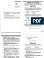 NCE Sample Test Questions (2015)