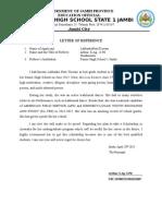 Letter of Reference Australia
