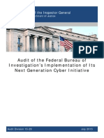 OIG report on federal government's cyber security initiative
