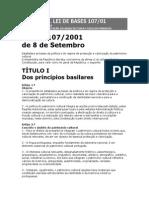 Lei n.º 107-2001 [Protecção e Valorização Do Património Cultural]