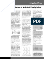 Tech Irrigation Notes Basics of Matched Precipitation