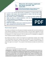 Encuesta de Indicadores Laborales (EIL) - Creció el empleo registrado del sector privado en junio 2015