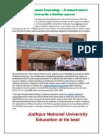 Jodhpur National University- Distance Education