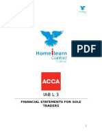 Financial statements for sole traders