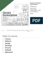 Osterwalder Business Model Generation