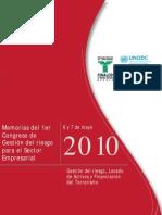 Memorias del 1er Congreso de Gestión del riesgo para el Sector Empresarial
