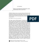 Bochenski and Salamucha. Tentativas de Modernizar Tomismo via Logica