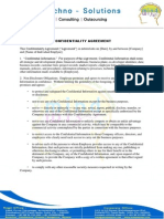 Confidiantiality Agreement