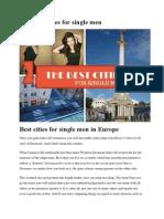 Best Cities for Single Men