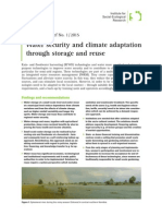 Water security and climate adaptation through storage and reuse