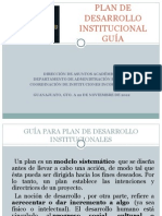 GUÍA PLAN DE DESARROLLO INSTITUCIONAL PARA ESCUELAS INCORPORADAS UG.ppt