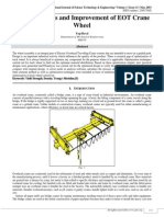 Design Analysis and Improvement of EOT Crane Wheel