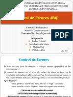 Detección y Corrección de Errores mediante solicitud de Repetición Automática ARQ