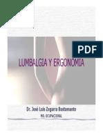 Lumbalgia y Ergonomia