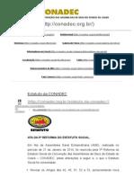 Conadec - Convenção Das Assembléias de Deus Do Estado Do Ceará – Estatuto Da Conadec