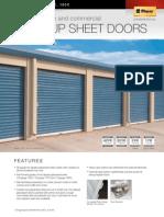 Clopay 150C_ 157C_ 160C Roll Up Sheet Doors