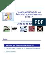 Responsabilidad de Los Administradores Frente a Las Niiif