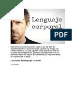 lenguaje corporañ