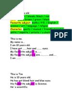 English exercises primaria