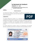 Ley Nacional Licencias