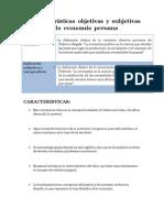 30 Caracteristicas Objetivas y Subjetivas de La Economia Peruana 2