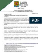 150805 CARTA PÚBLICA_Feminicidio Defensora Nadia Vera
