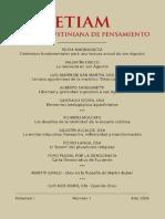 Revista Agustiniana de Pensamiento Etiam Vol I. Año 1 2006
