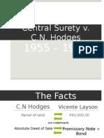 Central Surety v. CN Hodges