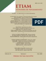 ETIAM Revista Agustiniana de Pensamiento Volumen IV, Número 4, Año 2009