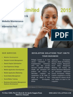 Willapps Limited, Website Development and Maintenance Client Information Pack 2015