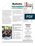 Friends of the Modesto Library Winter/Spring 2010 Newsletter