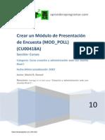 Crear Un Módulo de Presentación de Encuesta (MOD_POLL)