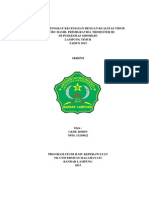 Skripsi Hubungan Tingkat Kecemasan dengan Kualitas Tidur Ibu Hamil Primigravida Trimester III di Puskesmas Sidorejo, Lampung Timur