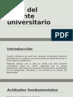 Perfil Del Docente Universitario