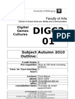 DIGC201 Digital Games Cultures Subject Outline Feb 23 2010