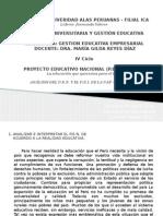 Analisis del proyecto educativo nacional