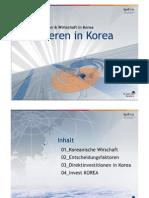 Investieren in Korea 2009 (German)