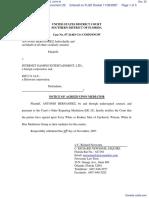 Hernandez v. Internet Gaming Entertainment, Ltd et al - Document No. 32