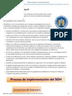 Objetivo Del Programa H y Procedimiento de Operación