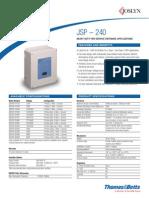 JSP 240 Datasheet